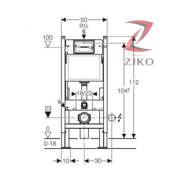 geberit duofix up100 standard market ziko. Black Bedroom Furniture Sets. Home Design Ideas