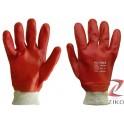 Rękawice gumowe długie czerwone Reis RPCV 5par